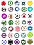 35 Grunge Circle Graphic Elements