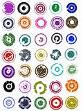 35 Splatted Circles
