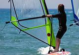 kid windsurfer