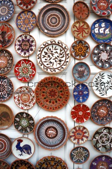 POTTERY ON A MARKET