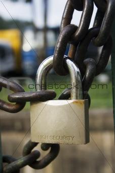 Chain and padlock