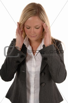 Business women with headache