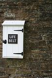 Life Belt Box on Stone Wall