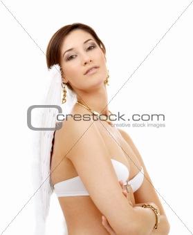 portrait of brunette angel girl #2