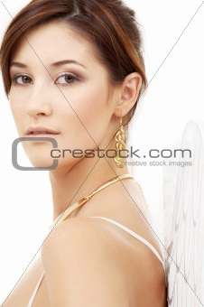 portrait of brunette angel girl #3