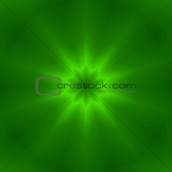 green ten point star design