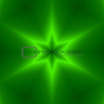 green six point star design