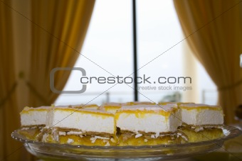 Cake in a plate