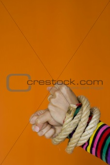 Captive woman