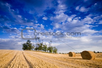 Bale in rural