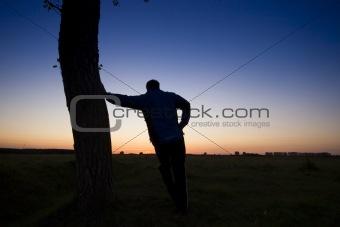 A man's silhouette