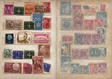 Stamp Album Pages Set