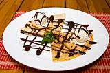 Sweet pancakes with icecream