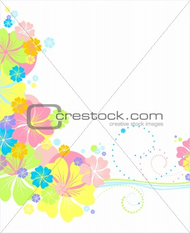 Vector floral backdround