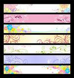 Floral website banners
