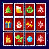 Vector Christmas Stamp Collection