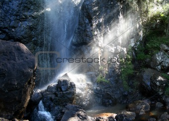 As peaceful as sunlight through a waterfall