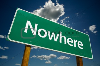 """Nowhere"" Road Sign"