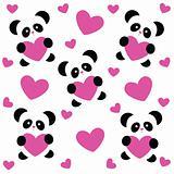pattern-love-panda