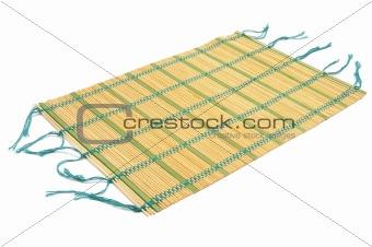 a makisu, a japanese bamboo mat