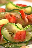 Zucchini, Tomato and Corn Dish