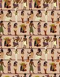 seamless pharaoh pattern