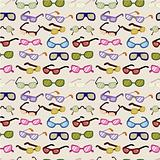 seamless cartoon Glasses pattern