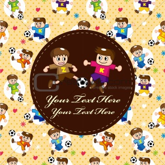 cartoon soccer player card