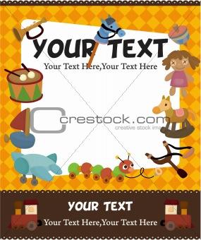 cartoon kid toy card