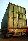 Large Green Shipping Container