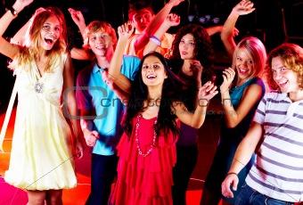 Dancing friends