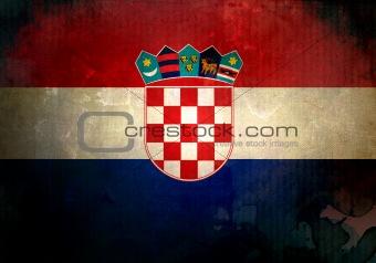 Grunge Croatia Flag