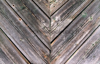 aging wall of the wooden building