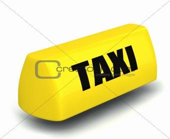 3d model of the taxi symbol