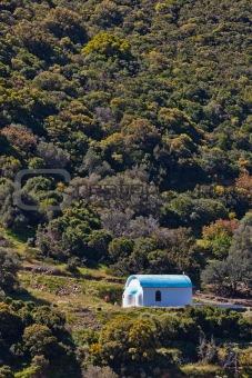Chapel on a roadside in Greece