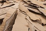 corrugated cardboard torn pile