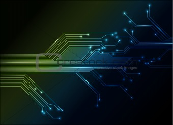 electronic circuit abstract background