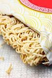 Noodles on a white background.