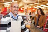 Supermarket Cashier Portrait