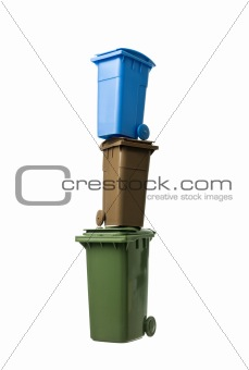 Tower of Recycling Bins