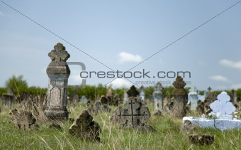 Old orthodox graves of 19s century