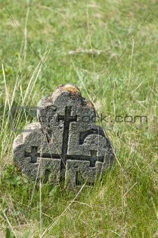 Old orthodox graves of 19s century