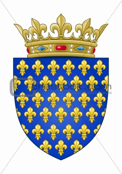 French heraldic coat of arms