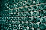 spanish cava bottles in a wine cellar