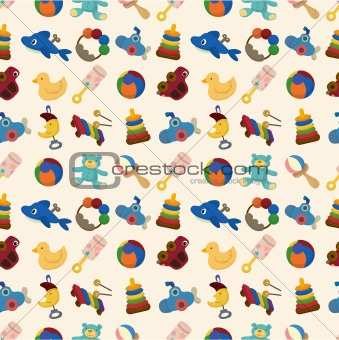 cartoon kid toy seamless pattern