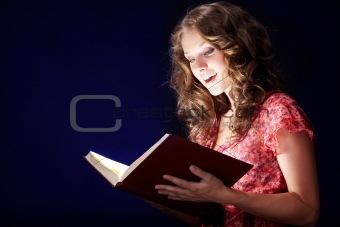 Reading magic book