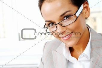 Smiling employee