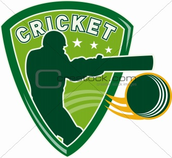 cricket player batsman batting shield