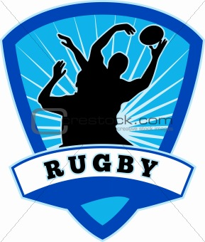 rugby player lineout catch shield