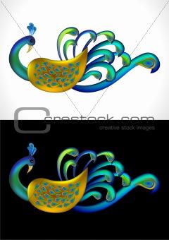 Beautiful Peacock Vector Illustration